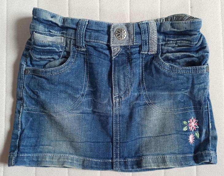 KIKI&KOKO krásná džínová sukýnka 122/6-7 let - Oblečení