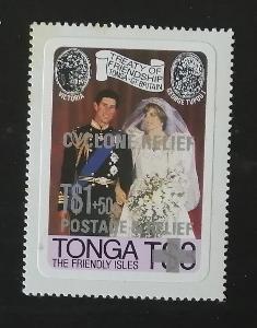 Tonga 1982 7,5€ Charita pro oběti tajfunu Isaac