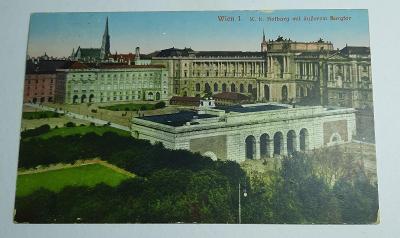 Pohlednice za rakouska-uherska Wien  prošlá poštou