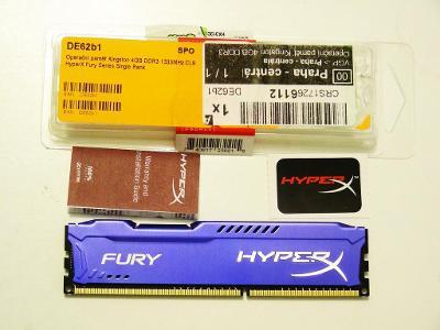 Operační paměť Kingston HyperX Fury Blue DDR3 4GB 1333MHz CL9