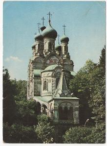 Česko velký formát barevná prošlá: Karlovy Vary - pravoslávny chrám