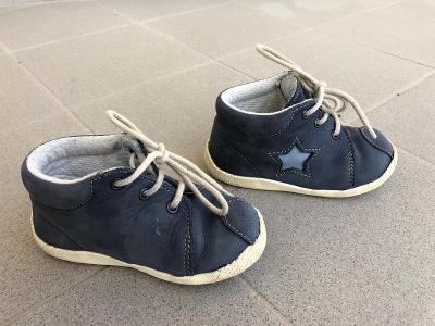 Dětské kožené kotníkové boty, vel. 21, MD Obuv