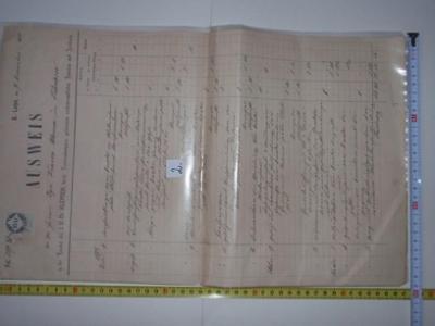 Starý doklad z R.U. č.2/a dalších cca.100 aukcí/ !!!