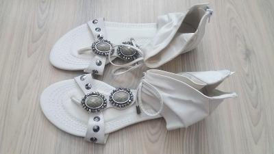Dámské bílé sandály