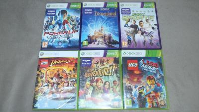 Kinect Power Up Heroes Disneyland Sports Lego Indiana Xbox 360 Hry