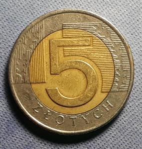 5 Zlotych - Polsko - r. 1994