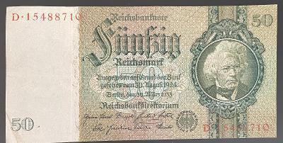 50 RM 1933 - Platná na části území ČR