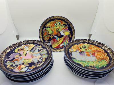 Porcelánové talířky Rosenthal 15 ks