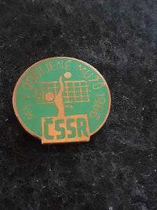 Odznak MS v odbíjené mužů 1966 - zelená varianta