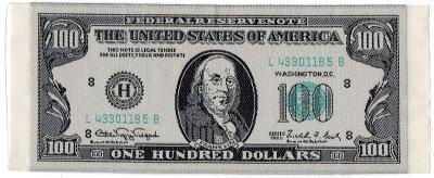 Nášivka 100 dolarů