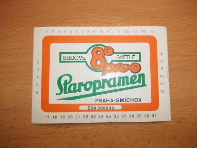 Pivní etiketa Praha - Smíchov S2