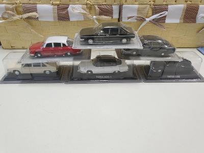 Modely iST MODELS - sbírka 6kusů osobní auto TATRA 1:43