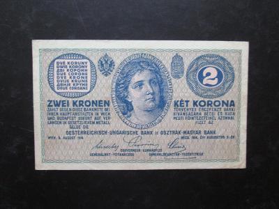 2 Kronen 1914 série C, hezká