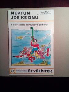 ČTYŘLÍSTEK č.74  Neptun jde ke dnu 1979 - TOP stav