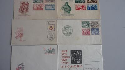 Filatelie-obálky-6.ks. - 50.-