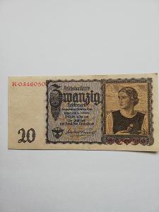 Něměcko - 20 marek, 1939
