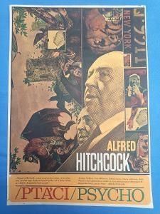 Filmový plakát A3 - Ptáci/psycho, autor Ziegler