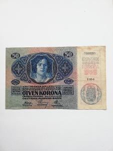 Rakousko-uhersko - 50 koruna, 1914