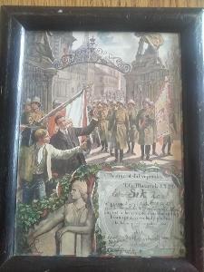 Listina brance(četaře) z roku 1925