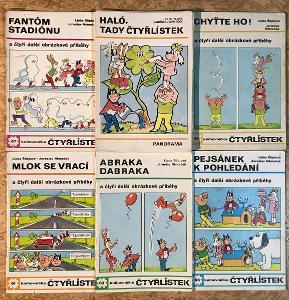 5 x ČTYŘLÍSTEK (1977-1978) č. 56, 57, 61, 63, 66 + Bonus kniha