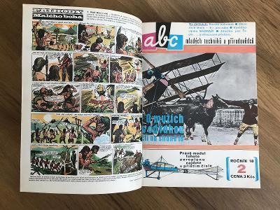 staré svázané časopisy-komiksy-ABC mladých techniků a přírodovědců