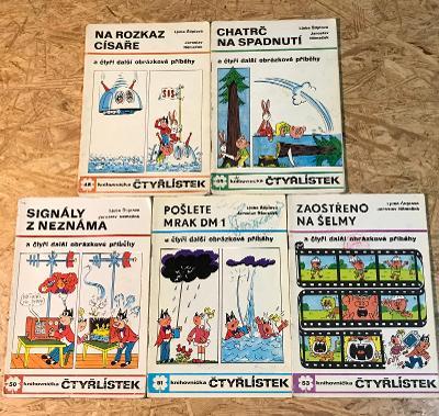 5 x ČTYŘLÍSTEK (1976) č. 48, 49, 50, 51, 53