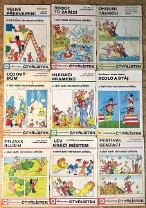 9 x ČTYŘLÍSTEK (1977-1979) č.60,62,64,65,67,69,70,73,75
