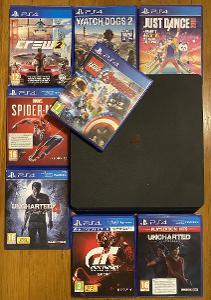 Playstation 4+ovladač+hry