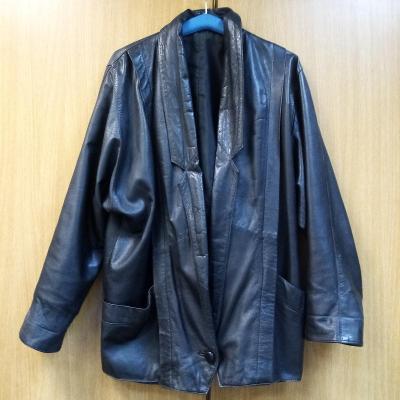 Mongolský kožený kabát na 1 knoflík, vel. M-L