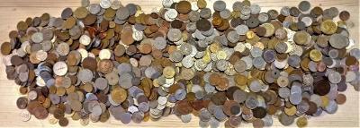 Vyše 8 Kg. veľmi starých mincí, veľmi slušné po zberateľovi.