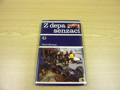 Kniha Z DEPA SENZACÍ,Skořepa závodní auta motorky, veteráni,fotky 1977
