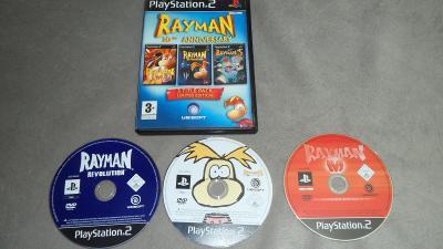 3x Rayman Revolution + Rayman M + Rayman 3PS2 Playstation 2 Hra