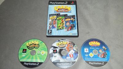 3x Crash Bandicoot Nitrocart + Twin Sanity + Tag Team Racing PS2 Hra
