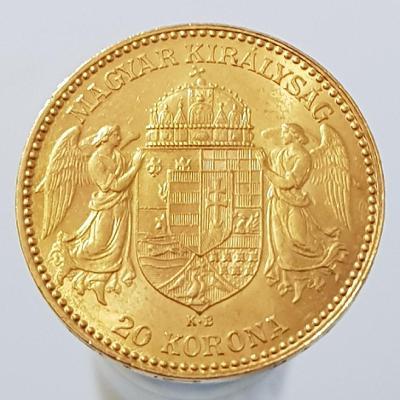 Zlatá Uherská 20 koruna 1894 pěkný stav původní stará ražba 0/0 !!