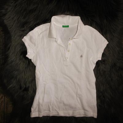 Benetton příjemné dívčí polo triko tričko 9-10 let 140