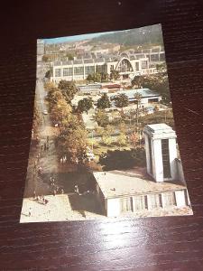 Pohlednice z roku 1965 Mezinárodní veletrh Brno, prošlé poštou.