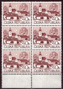 POF. 70 - VENKOVSKÉ MOTIVY 40 HAL - KRAJOVÝ 6-BLOK S DV 39/1 (S1812)