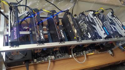 Mining Rig 8x 8GB GPU 250MH/S