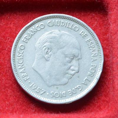 mince, 25 pesetas Španělsko 1959 F.Franco