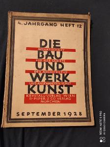 4 Jahrgang heft 12 / Die Bau Und Werk Kunst / september 1928