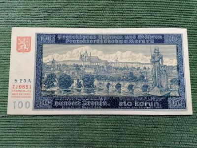 100 K 1940 I. vydání, série 25 A, stav hezká 1-