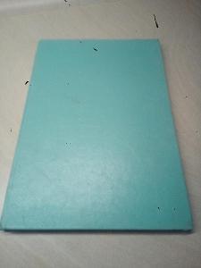 Retro sešit s tvrdými deskami, záznamní kniha, A4, tyrkysová,linkovaná