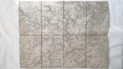 R-U vojenská mapa 1880-1900 Královice-Braš-Mýto-Plzeň-Zbirov