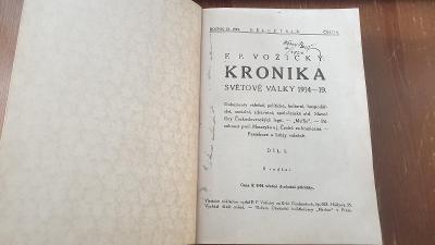 Kronika 1.sv. války 1914-1918-Rakousko-Uhersko-Vydáno 1919