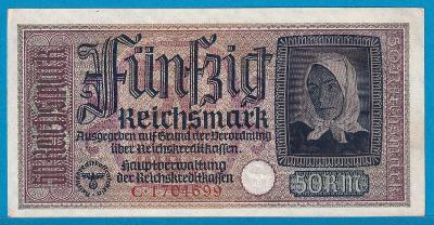 50 Reichsmark (b.l.), 9/1939 - 31.12.1944, UNC-AU