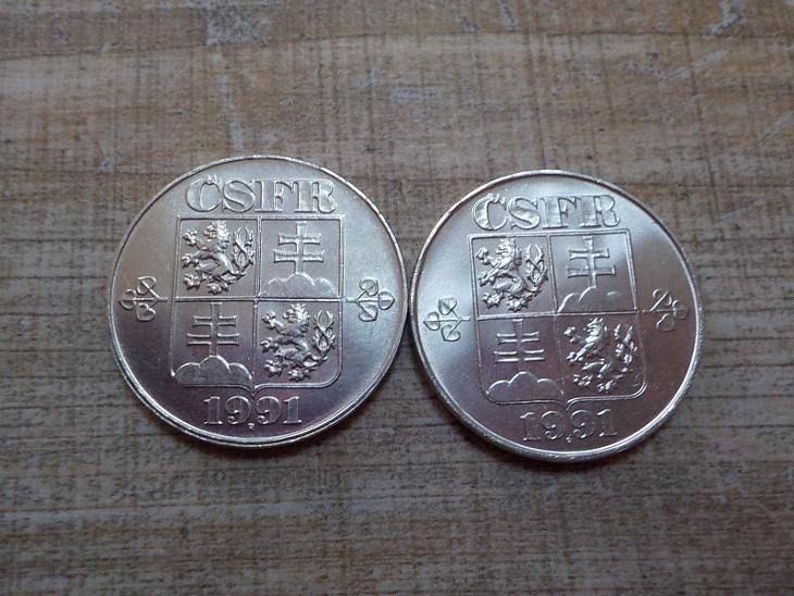 5 Kčs 1991 - LUXUSNÍ - obě mincovny! - Numismatika