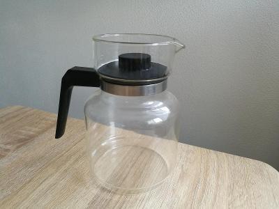 Retro skleněná konvice na čaj / konvička 1,5l varné sklo 70. léta