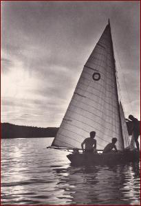 Vranovská přehrada * lodě, plachetnice, lidé, jezero * Znojmo * V774