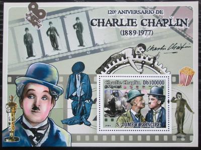 Svatý Tomáš 2009 Charlie Chaplin Mi# Block 689 Kat 10€ 2405