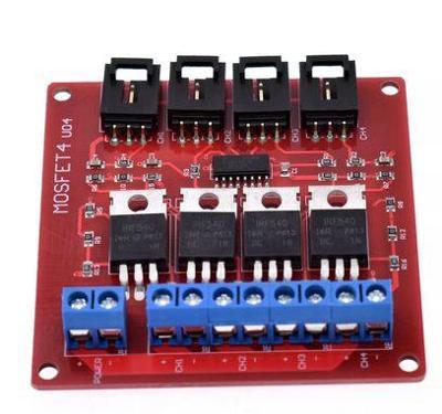 4 kanálový mosfet spínač arduino modul